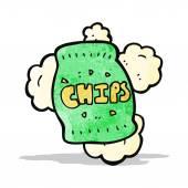 Cartoon potato chips — Stock Vector