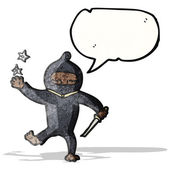 Cartoon ninja — Stock Vector