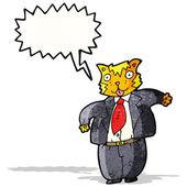 Cartoon fette katze kaufmann — Stockvektor