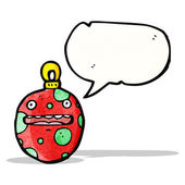 Crazy christmas bauble stripfiguur — Stockvector