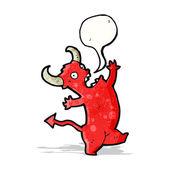 Cartoon dancing devil — Stock Vector