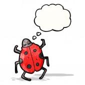 Cartoon lieveheersbeestje — Stockvector
