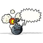 Cartoon bomb — Stock Vector