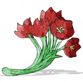 Bloemen illustratie — Stockvector