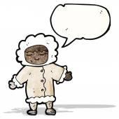 Eskimo cartoon — Stok Vektör