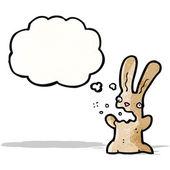 Burping rabbit carton — Stock Vector