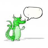 Cartone animato green dragon — Vettoriale Stock