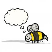 Bee cartoon — Wektor stockowy
