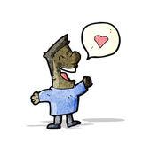 Homem dos desenhos animados no amor — Vetorial Stock