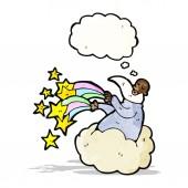 Cartoon god on cloud — Stock Vector