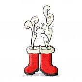 Smoking santa boots  — Stock Vector