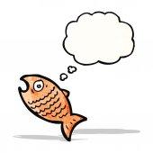 Fumetto di pesce — Vettoriale Stock