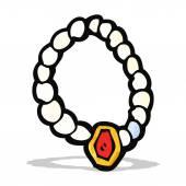 Cartoon pearl necklace — Stock Vector