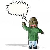 Cartoon högt man — Stockvektor