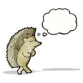 Cartoon shy hedgehog — Stock Vector