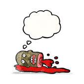 Cartoon gross severed head — Stock Vector