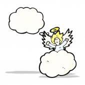 Anioł na chmurze kreskówka — Wektor stockowy