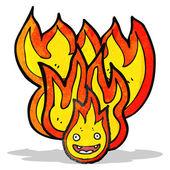 Fire cartoon character — Stock Vector