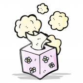 Box of tissues cartoon — Stock Vector