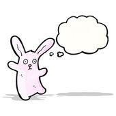 Coniglio rosa fumetto — Vettoriale Stock