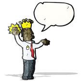 Cartoon prince taking oath — 图库矢量图片