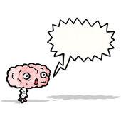 Cartoon brain with speech bubble — Stock Vector