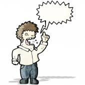 Cartoon shouting man — Stock Vector