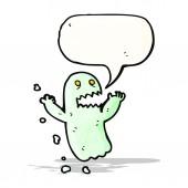 Fantasma con el bocadillo de diálogo — Vector de stock