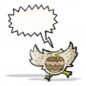 Cartoon owl with speech bubble — Stock Vector