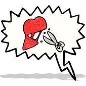Símbolo de coração partido — Vetorial Stock