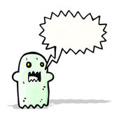 Ghost with speech bubble — Stock Vector