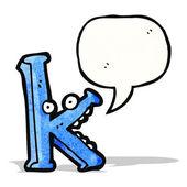 Karikatür harf k — Stok Vektör