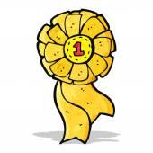 卡通黄色玫瑰 — 图库矢量图片