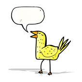 Funny cartoon bird — Stock Vector