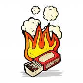 危险的火柴盒 — 图库矢量图片