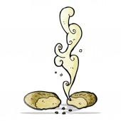 Gorący chleb kreskówka — Wektor stockowy