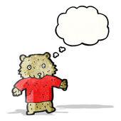 Cartoon bear in tee — Vettoriale Stock
