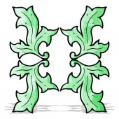 Cartoon decorative nature themed florals — Stock Vector