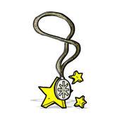 Magic necklace cartoon — Stock Vector
