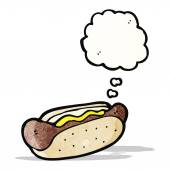 Cartoon hot dog — Stock Vector