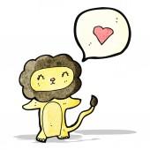 Cartoon lion in love — Vettoriale Stock