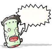 Cartoon frankenstein's monster head — Vettoriale Stock