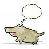 Cartoon vet hond — Stockvector