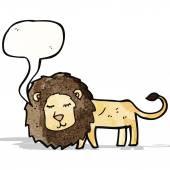 Cartoon lion — Stock Vector