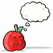 Karikatür elma — Stok Vektör
