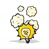 Lâmpada de iluminação dos desenhos animados — Vetorial Stock