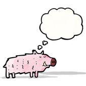 Cartoon schwein — Stockvektor