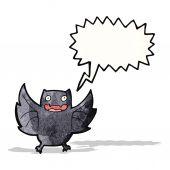 Dibujos animados de murciélago chillona — Vector de stock