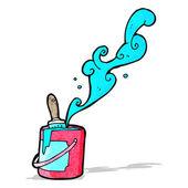 Cartone animato di latta di vernice — Vettoriale Stock