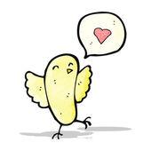 卡通鸟用爱的心 — 图库矢量图片